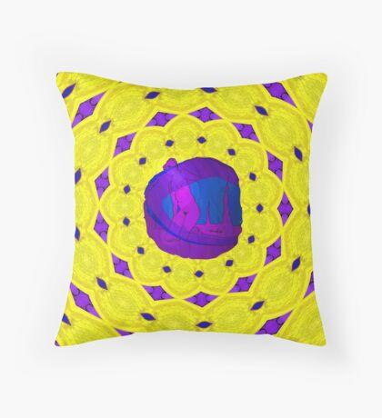 Magenta Meet Yellow Throw Pillow