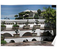 Royal bonsai garden. Poster