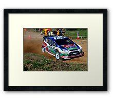 Jari-Matti Latvala SS12 Rally Australia 2011 Framed Print