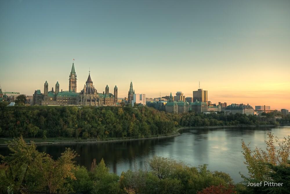 Ottawa Skyline - Ottawa, Ontario by Josef Pittner