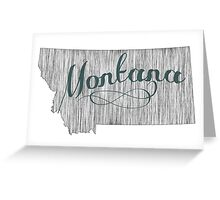 Montana State Typography Greeting Card