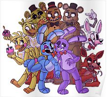 FNAF- The Gang's All Here Poster