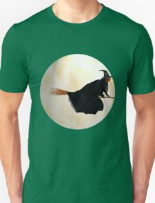 Whitch Flight on Halloween Night Unisex T-Shirt