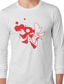 yin yang samarai Long Sleeve T-Shirt