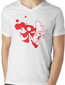 yin yang samarai Mens V-Neck T-Shirt