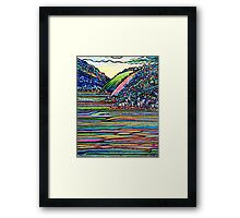Tide on the turn - D'Entrecasteaux Channel Tasmania Framed Print