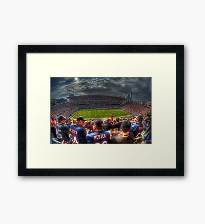 Bears vs. Packers Framed Print