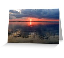 First Freeze Ice Reflections Greeting Card