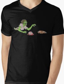 Bacon Zombie Mens V-Neck T-Shirt