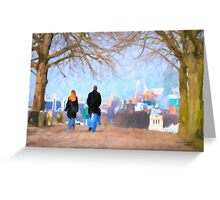 Walking in Greenwich Park Greeting Card