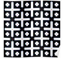 Geometric in Black and White Poster