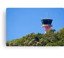 Airport Control Tower. Canvas Print