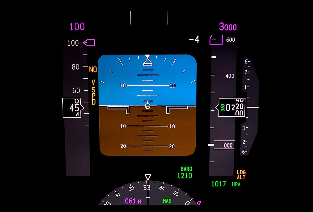 Technology: airplane instrument panel. by FER737NG