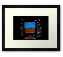 Technology: airplane instrument panel. Framed Print