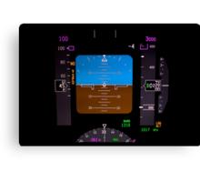 Technology: airplane instrument panel. Canvas Print