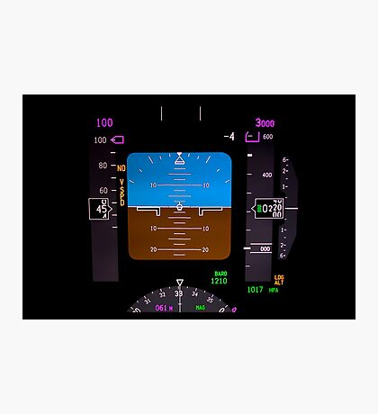Technology: airplane instrument panel. Photographic Print