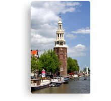 Montelbaanstoren in Amsterdam. Canvas Print