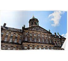 Royal palace, Amsterdam. Poster