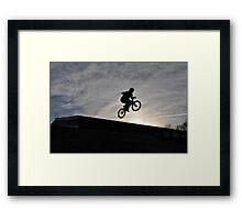 Bike Jumping Framed Print