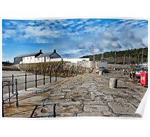 All Quiet At The Cobb ~ Lyme Regis Poster