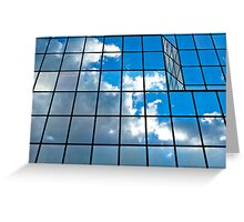 Glass office building. Greeting Card