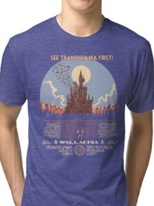 See Castlevania First! Tri-blend T-Shirt