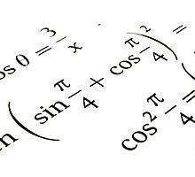 Algebra formulas close up. Photographic Print