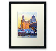 Port of Liverpool, England Framed Print