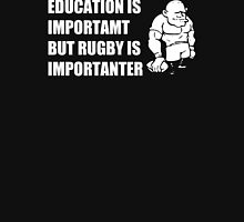 Rugby Is Importanter Mens Funny T-Shirt Hoodie