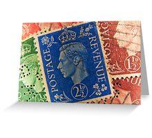 King George vintage stamps. Greeting Card