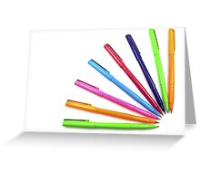 Multicolor pens. Greeting Card