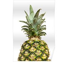 Isolated pineapple. Poster