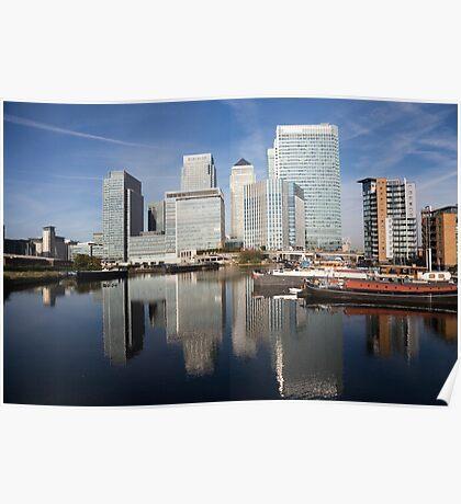 Canary Wharf Skyline Poster
