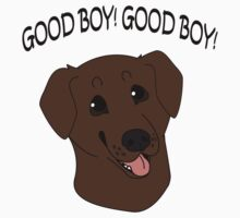 Good Boy! Chocolate Labrador One Piece - Short Sleeve