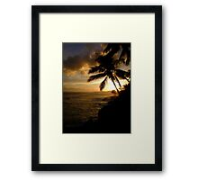 Beach Sundown  Framed Print