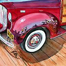 Reflections on a 38 Packard fender - San Clemente Pier,Ca by Rob Beilby