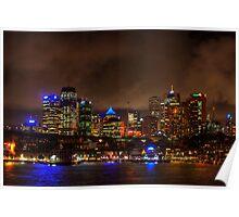 Sydney City CBD Australia HDR Poster