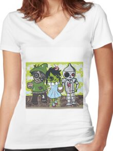Dorothy of Ozzzombies Women's Fitted V-Neck T-Shirt