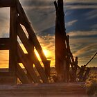 OLD LIVESTOCK LOADING RAMP by Joe Powell