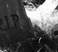 graveyard scene Sticker