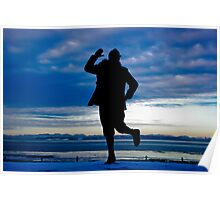 silhouette of Morecambe Poster