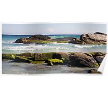 Redgate Beach Rocks with seaweed 2 Poster