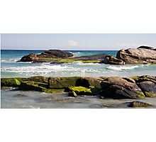 Redgate Beach Rocks with seaweed 2 Photographic Print