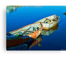 Peggy's Cove Row Boats Canvas Print