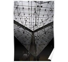 Louvre museum inverted pyramid Poster