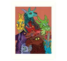 Beast Cluster Art Print