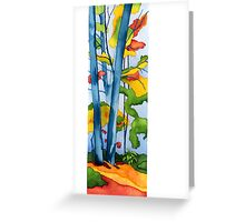 Two Trees in Autumn Greeting Card