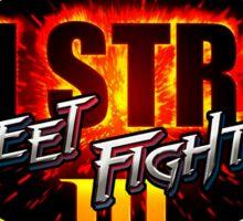 3rd Strike Street Fighter III Logo Sticker