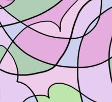 Abstract Print - Emanate Flora Sticker