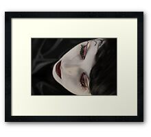 Blood tears Framed Print